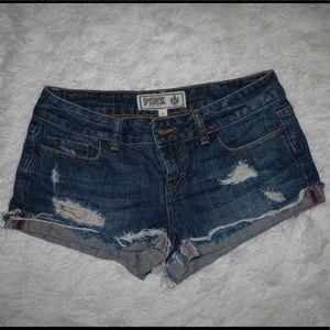 Victoria secrets PINK denim shorts